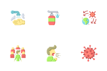 Virus Pandemic Icon Pack