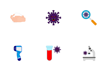 Coronavirus And Prevention Icon Pack