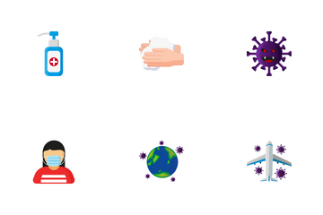 Coronavirus And Prevention Icon Pack
