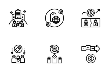 Corporate Image And Brand Management Icon Pack