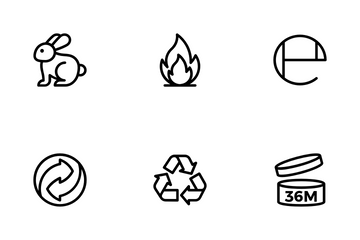 Cosmetic Packaging Symbols Icon Pack