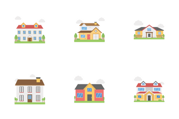 Cottage House Icon Pack