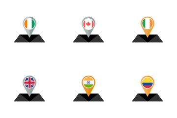 Country Flag Map Icon Pack