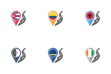 Country Flag Path Icon Pack