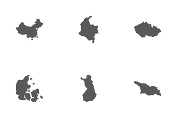 Country Map Icon Pack