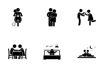 Couple Activities Icon Pack