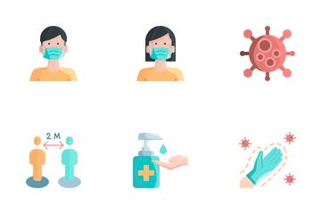 Covid-19 Prevention Icon Pack