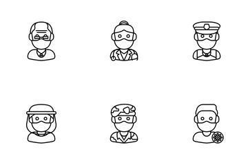 Covid Avatars Icon Pack