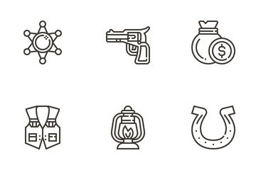 Cowboy Icon Pack
