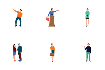 Coworking People Icon Pack