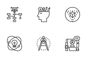 Creative Design Thinking Icon Pack
