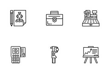 Creative Process And E-Commerce Icon Pack
