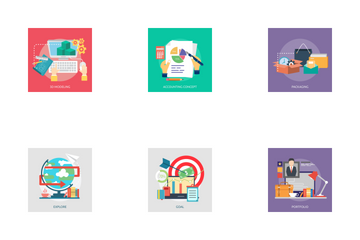 Creative Process Concept Icon Pack
