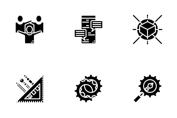 Creative Process Solid Icon Pack