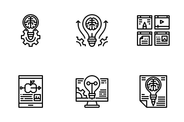 Creativity And Learning Icon Pack