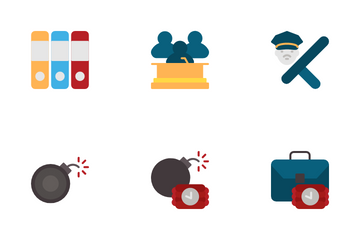 Crime And Law Icon Pack