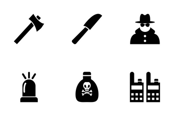 Crime Vector Icons Icon Pack