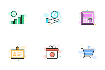 Crowdfunding And Business Icon Pack