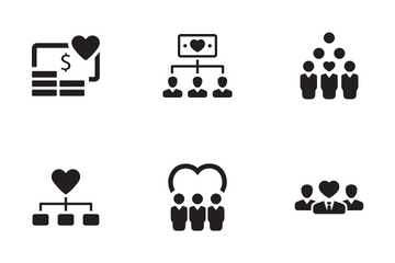 Crowdfunding And Donation Icon Pack