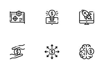 Crowdfunding Business Icon Pack
