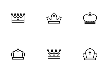 Crown And Hat Icon Pack