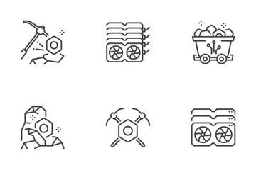 Crypto Mining Farm Icon Pack