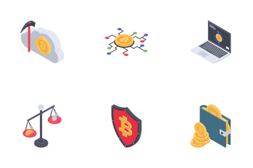 Cryptocurrency And Bitcoin Icon Pack