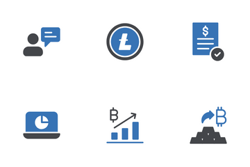 Cryptocurrency And Blockchain Icon Pack