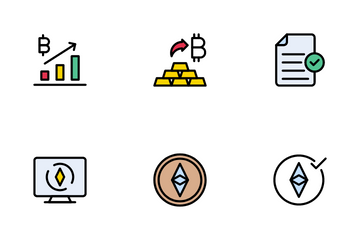 Cryptocurrency And Bockchain Icon Pack
