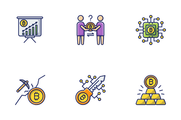 Cryptocurrency & Bitcoin Icon Pack