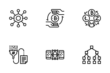 Cryptocurrency Blockchain Icon Pack