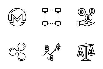 Cryptocurrency Line Icon Pack