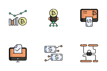 Cryptocurrency Market Icon Pack