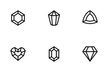 Game Crystal And Gemstone Icon Pack