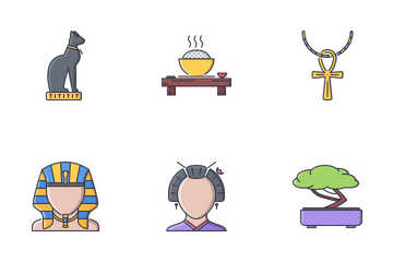Culture Filled Outline Icon Pack
