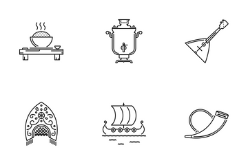 Culture Outline Icon Pack