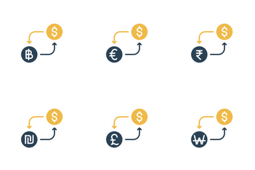 Currency Conversion - Dollar  Icon Pack