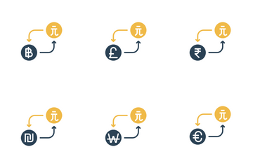 Currency Conversion - Taiwan Dollar  Icon Pack