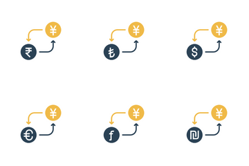 Currency Conversion - Yen Icon Pack