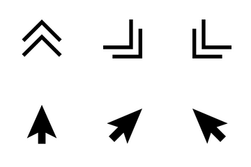 Cursors & Pointers Solid Icon Pack