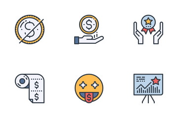 Customer Loyalty Program Color Icon Pack