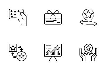 Customer Loyalty Program Outline Icon Pack