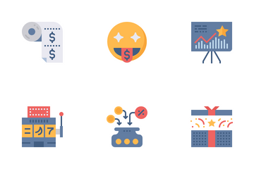 Customer Royalty Flat Icon Pack