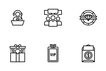 Customer Royalty Program Icon Pack