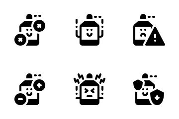 Cute Antiseptic Sanitizer Icon Pack