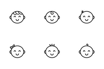 Cute Baby Face Icon Pack