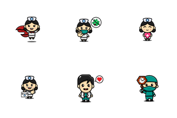 Cute Doctor Icon Pack