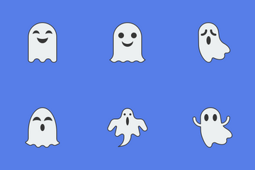 Cute Ghost For Halloween Icon Pack