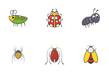 Cute Insects Icon Pack