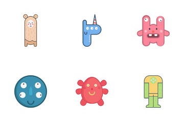 Cute Monsters Icon Pack